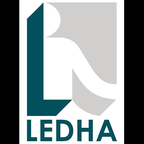 Questo è il logo di LEDHA, la Lega per i diritti delle persone con disabilità
