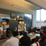 Giovanni Merlo parla al comitato dei destinatari formato da persone con disabilità